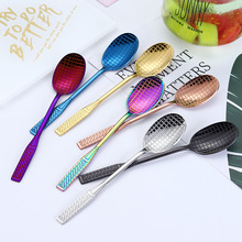 4PCS Stainless Steel Kitchen Spoon with Long Handle Creative Racket Ice Cream Dessert Accessories Coffee