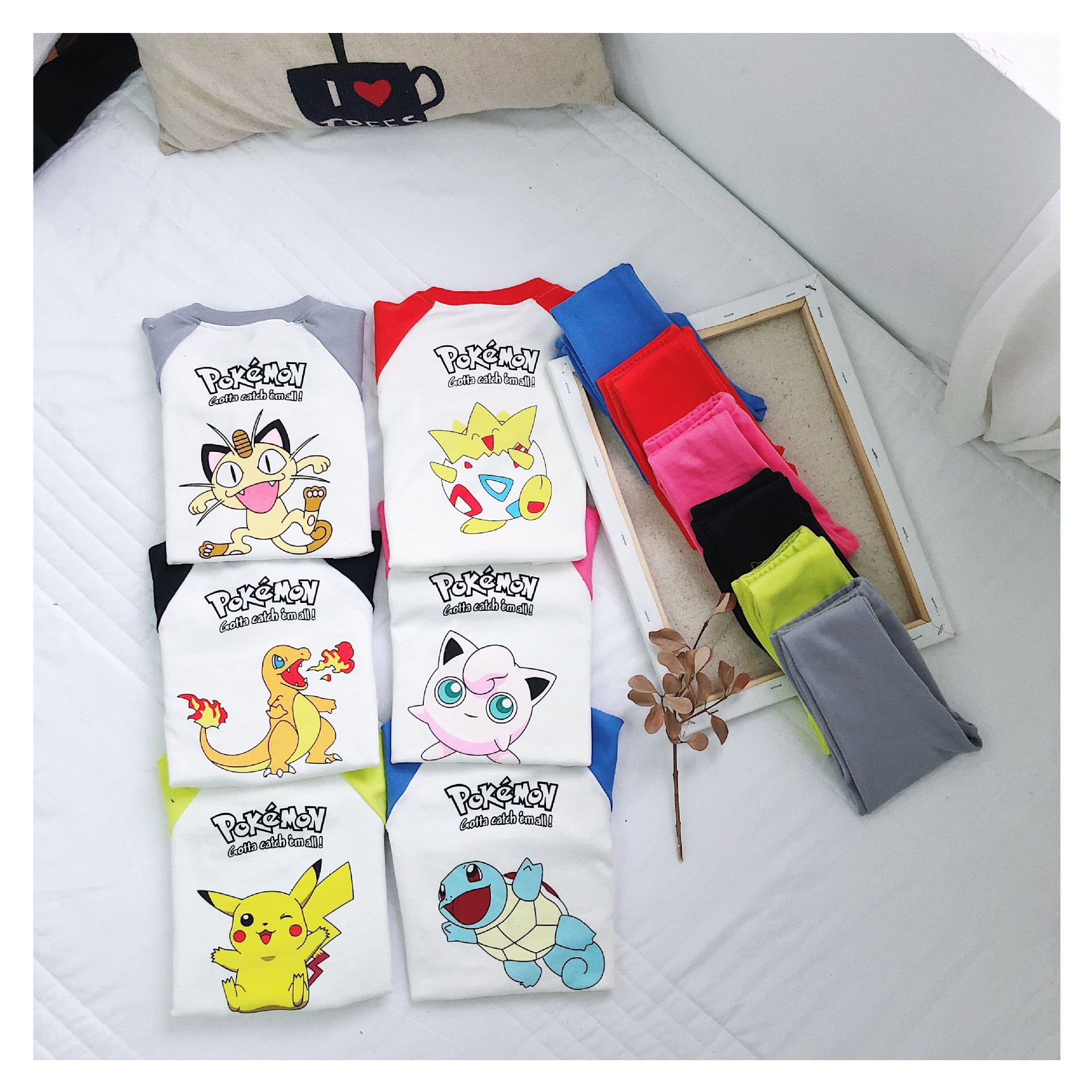 Casual children's home clothes Cartoons Kids pajamas set Boys girls Underwear set Spring and Autumn Two-piece Children clothing