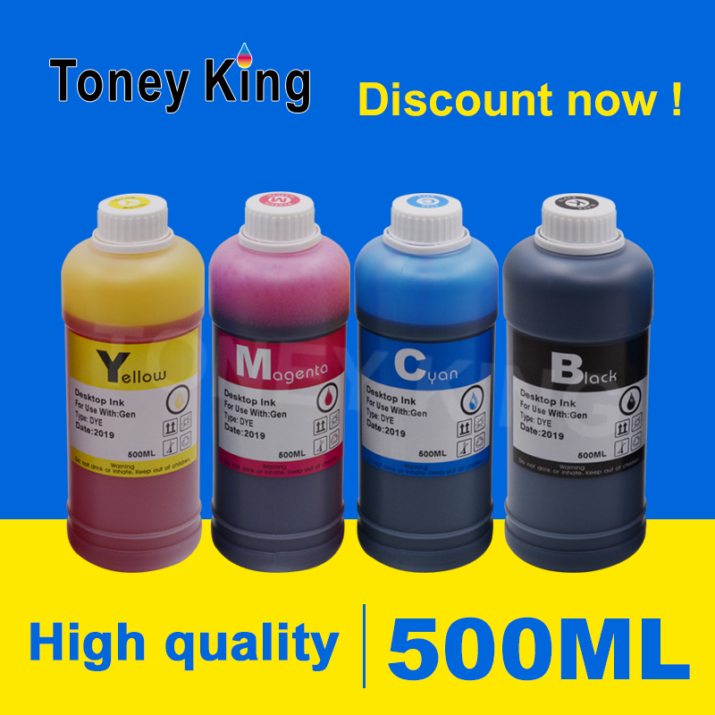 Toney King 500ml Bottle Printer Ink Refill Kits For HP <font><b>564</b></font> <font><b>XL</b></font> 564XL for HP Photosmart 5510 5511 Printer Refill Ink Cartridges image