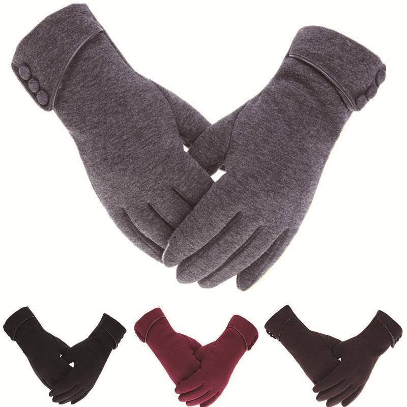 Women Winter Touch Screen Gloves Autumn Thermal Warm Gloves Wrist Mittens Driving Ski Windproof Gloves Elegant Gloves For Female