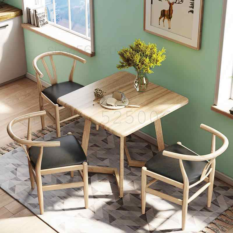 Nordic Dining Table And Chairs Simple Square Table People 4 Home Eating Table Small Apartment Nordic Table Aliexpress