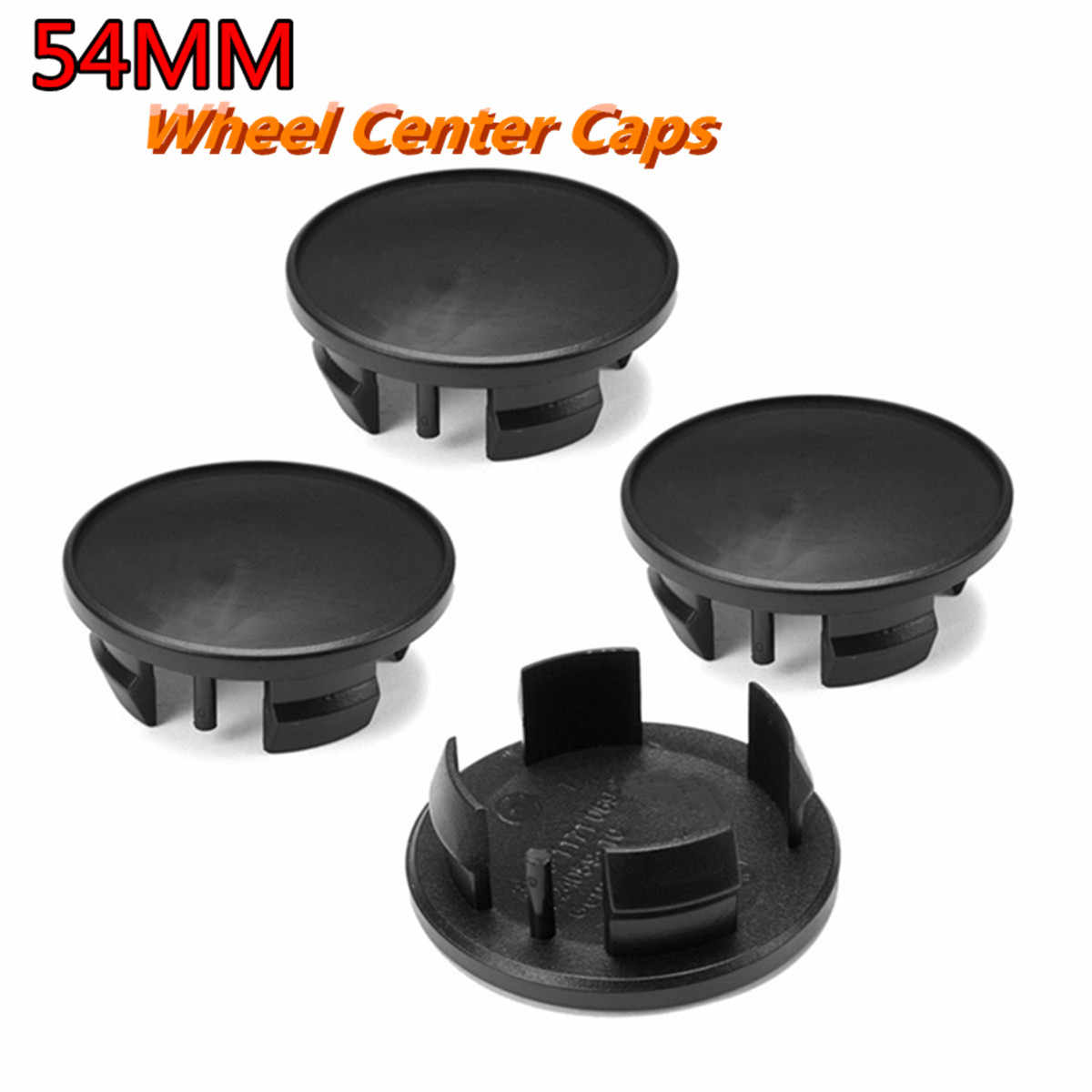 4Pcs 54MM Black Plastic Car Emblem Badge Wheel Center Hub Caps For Mini Cooper