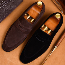 2019 Fashion Suede Loafers Shoes Men Flat High Quality Oxford Shoes For Men Genuine Cow Leather Mans Wedding Office Casual Shoes цена 2017