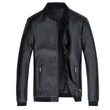 Mantlconx 7xl 8xl jaqueta de couro dos homens primavera outono da motocicleta plutônio leahter jaqueta masculino casual blusão fino caber casaco homem bombardeiro