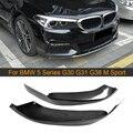 5 серий сплиттеры переднего бампера из углеродного волокна для BMW G30 G31 G38 520i 530i 540i M Sport 17-19 передние разветвители губ FRP