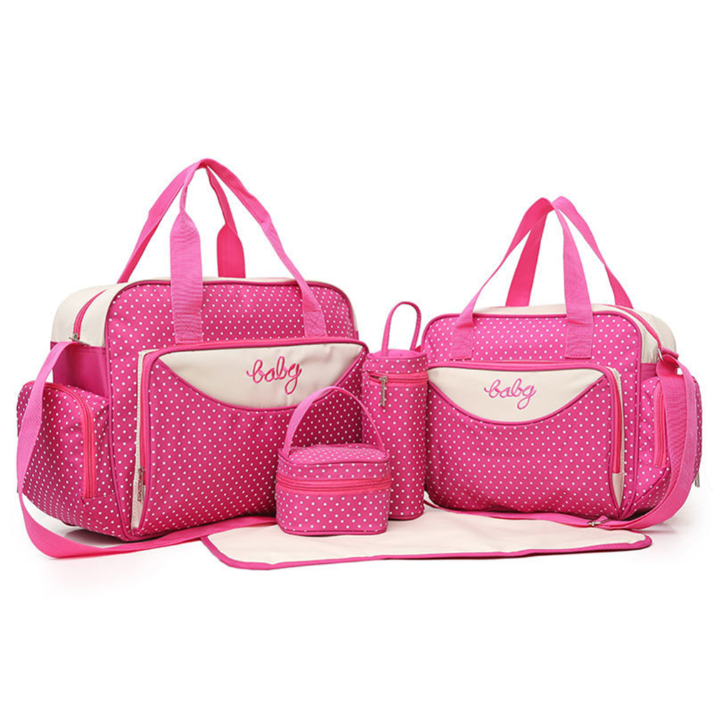 5pcs/set Multi-function Baby Diaper Bag Suits For Mom Baby Bottle Holder Mother Mummy Maternity Nappy Bags Nappy Bags HOt Sale