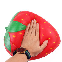 Extra Squishy Strawberry jumbo Squishy Slow Rising Large Squishes Soft PU Squish Simulation Fruit Relief Anti stress Kids Toys cute simulation animal pu squishy slow rising simulation squeeze decompression kawaii unicorn squish toy stress reliever