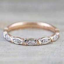 Rose Gold Color Engagement Rings for Women 2020 New Fashion CZ Wedding Jewelry Gifts for Guests new fashion multilayer double color women rings plated rose gold color zircon rings jewelry for women wedding accessories gifts