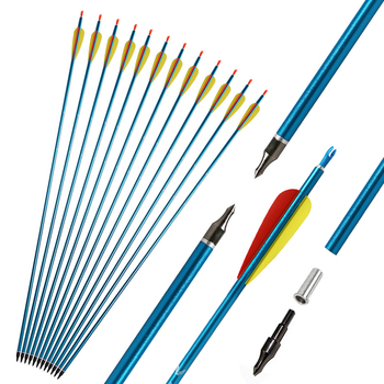 3/6/12pcs Archery Aluminum Alloy Arrows 31in With Changeable Arrowhead For 30-70lbs Bow Outdoor Shooting Hunting Accessories Arc new 2 color 30 70lbs archery compound bow set aluminum alloy with bow accessories for outdoor hunting shooting