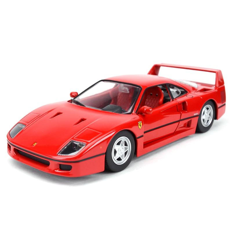 Bburago 1:24 F40 Sports Car Static Simulation Diecast Alloy Model Car