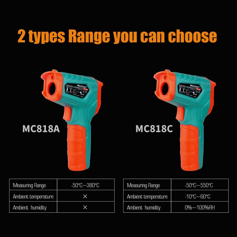 Image 4 - Бесконтактный цифровой термометр Mileseey с ЖК дисплеем, лазерный  цифровой термометр, ИК цифровой инфракрасный термометрПриборы для  измерения температуры   -