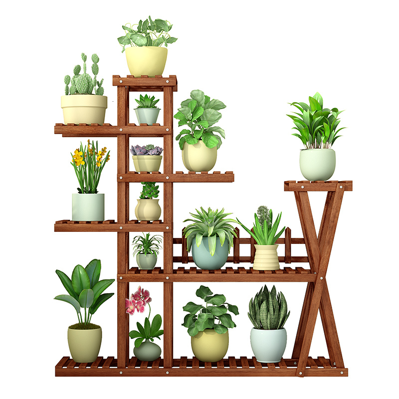 Indoor Balcony A Living Room Solid Wood Quality Potted Plant Meaty Multi-storey Household Anticorrosive Wood Flowerpot Frame