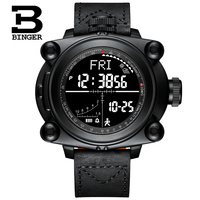 Smart Men Watches BINGER Outdoor Sport Digital Wristwatches Step Counting /Altitude/Pressure/Weather/Compass/Temperature MS3001