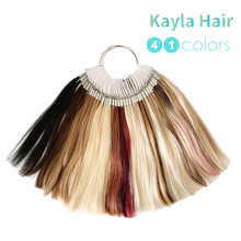 Kayla Color Ring For Hair Extensions Salon Matching 100% Real Human Hair Color Swatches