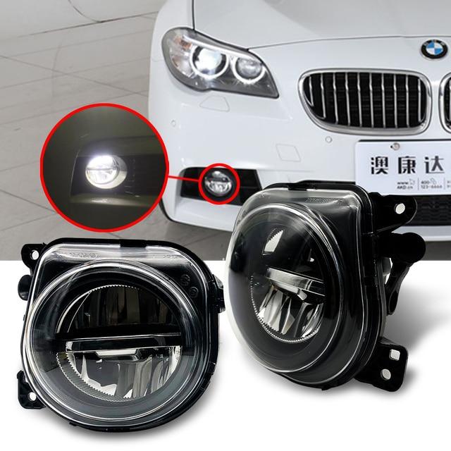 1 paar LED Licht Auto Front Nebel Licht Lampe mit LED Bulds für BMW 5 Series F07 F10 GT F11 f18 LCI 535I 528I 550I 2014 2015 2016