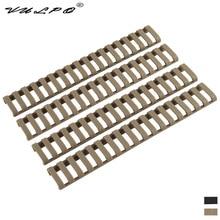 VULPO Tactical Picatinny Rail Hollow Soft Rubber Cover Black/Dark Earth