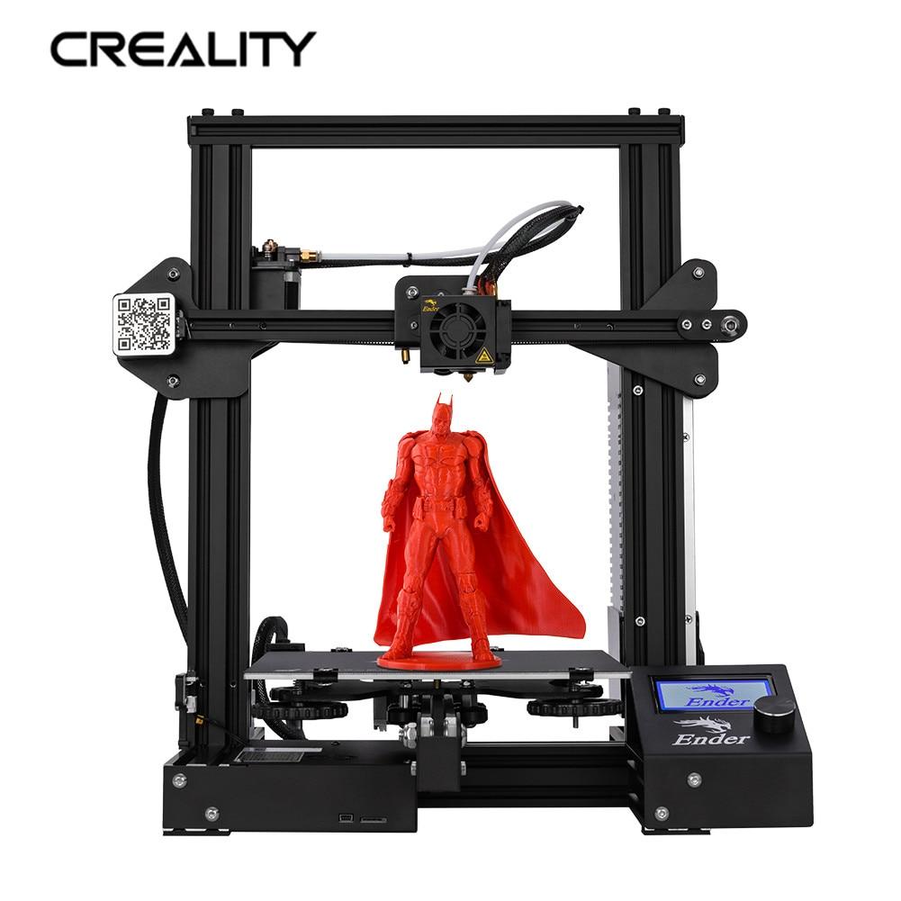 Entièrement En Métal CREALITY 3D Ender-3/Ender-3X/Ender-3 Imprimante Pro Avec Magie Plaque de Construction Mise À Niveau Vision v-slot 3D Imprimante