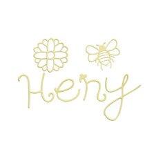Eastshape Honey Word Dies Bee Metal Cutting for Card Making Scrapbooking Embossing Flower Die Cut Craft New 2019