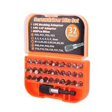32Pcs Mini Magnetic Screwdriver Bits Set for Power Tool Electric Drill Multifunctional Use with Portable Case