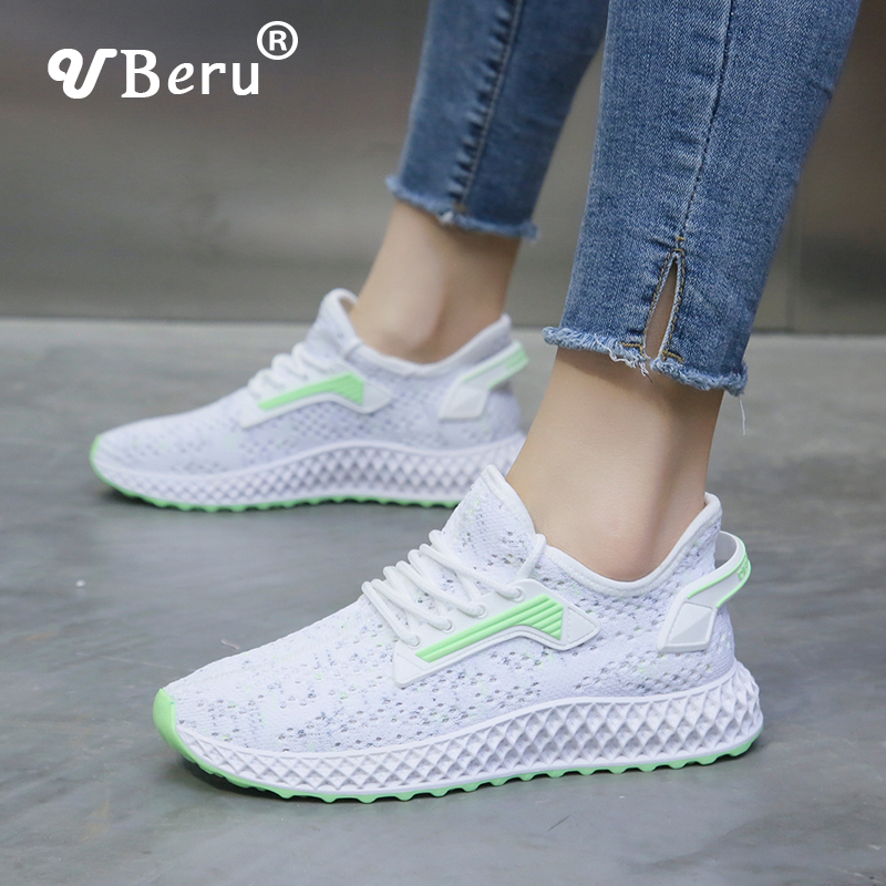 2020 Comfortable Soft Bottom Flying Women Shoes Summer New Female Sneakers  Breathable Stretch Mesh Sports Casual Running Shoes