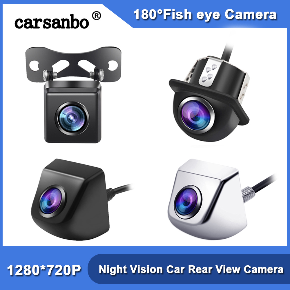 180 Degree Lens Starlight RearView Camera Fish eye Night Vision Car Rear View Camera Reversing Backup 720P HD Reverse Camera