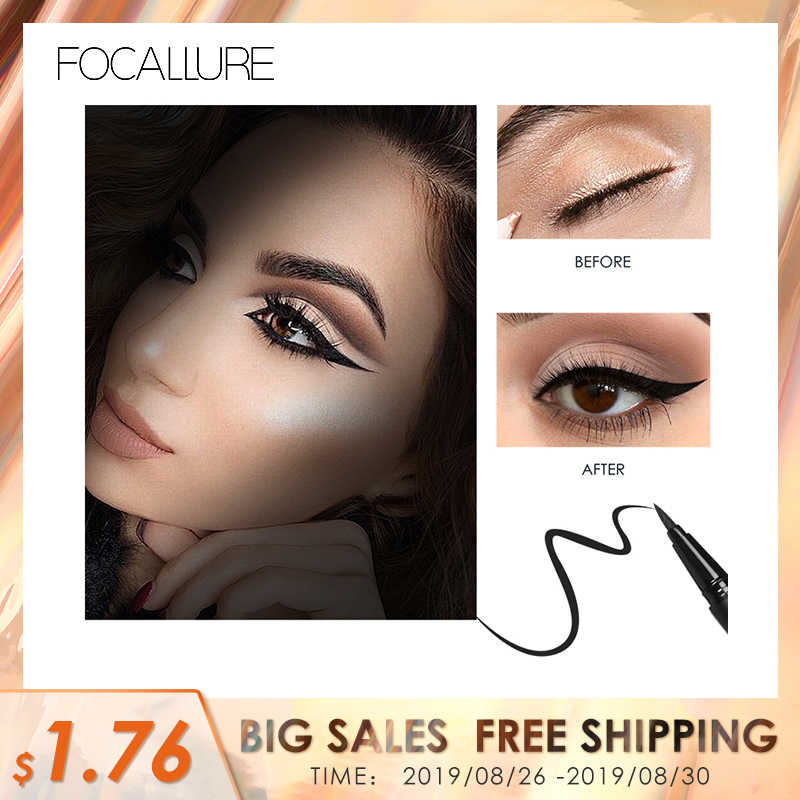 Focallure Profesional Eyeliner Cair Pena Make Up Eye Liner Pensil 24 Jam Tahan Lama Tahan Air Eyeliner