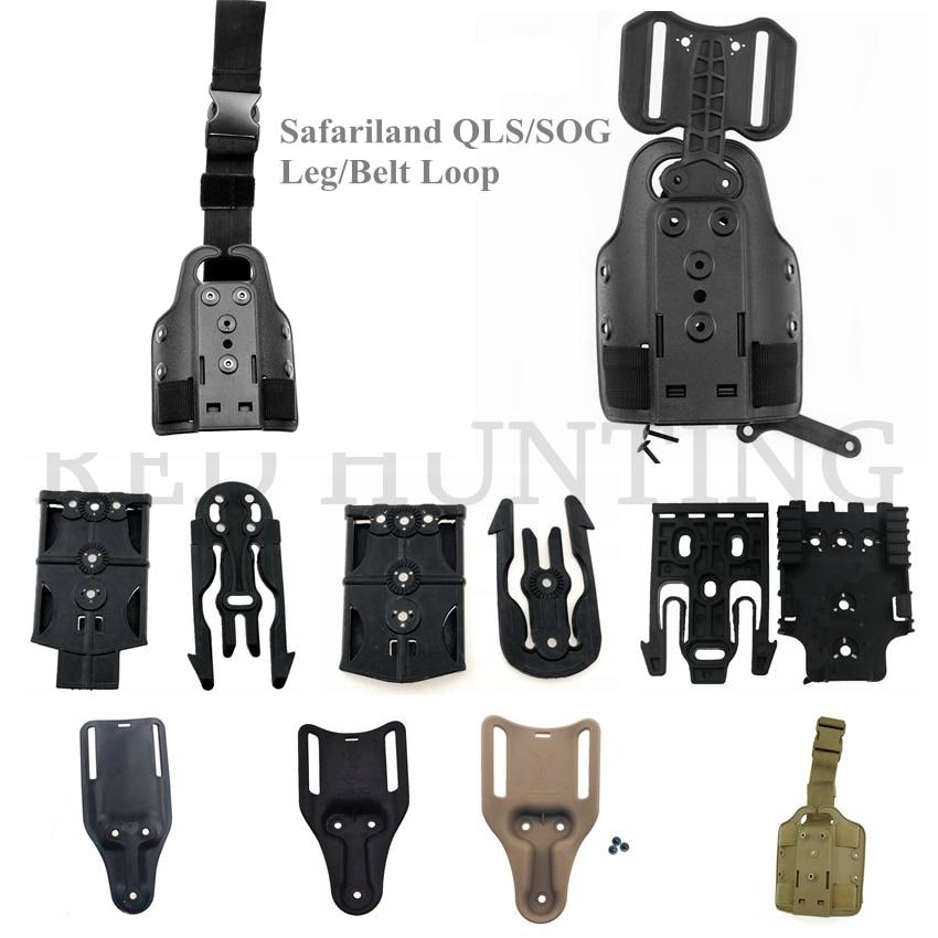 Hot Sale Gun Accessories Tactical Leg/Belt Holster Drop Adapter Safariland QLS/SOG Clip Mount Drop Leg Platform Accessories