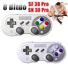 8bitdo Manette de Jeu pour Nintendo Switch Android Contrôleur Joystick Contrôleur de Jeu Sans Fil Bluetooth SF30 Pro SN30 Pro Gamepad