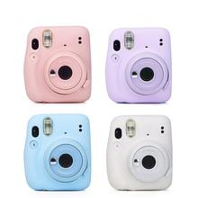 Sıcak satış Fuji Fujifilm Instax Mini 11 Mini kamera saf renk yumuşak silikon kılıf klasik anlık kamera kılıf cilt kapak