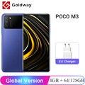 Глобальная версия POCO M3 4 ГБ 64 Гб / 128 Гб Смартфон Snapdragon 662 8-ядерный 48MP Тройная камера 6,53