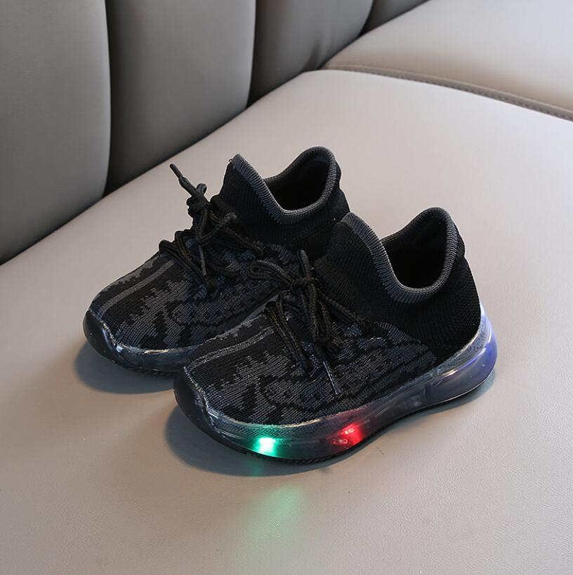 LED Mesh Breathable Sport Run Sneakers 3