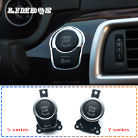 Car start stop engine one button switch button for bmw f10 f11 f30 g30 e90 universal keyless ignition switch original replace