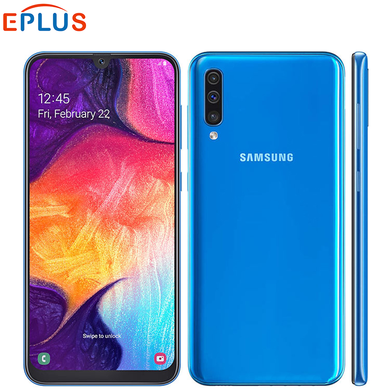 """Global Version Samsung Galaxy A50 4GB 64GB 128GB Mobile Phone Dual SIM A505F DS 6.4"""" Exynos 9610 Octa Core Android 4G SmartPhone