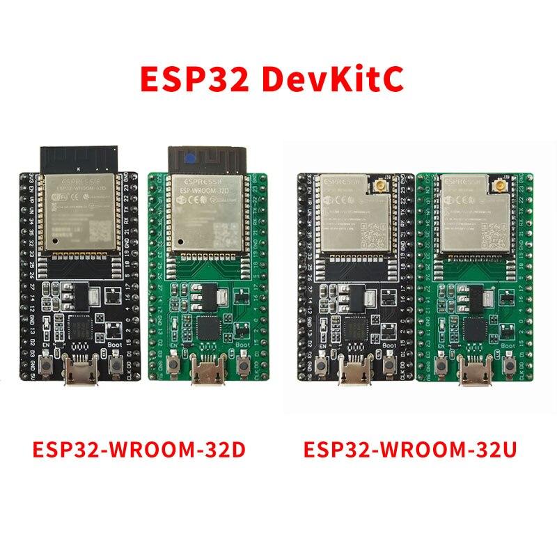 ESP32-DevKitC Совет по развитию оснащен WROOM-32D/U модуль основной плате Совет по развитию Модуль