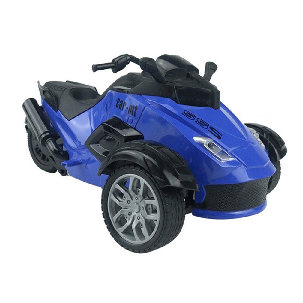 1/14 4CH Infrared Remote Control RC Car High-speed Racing 3 Wheeled ATV Ready-to-Run Motorcycle Tricycle Off-Road Vehicle Toy