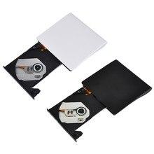 Taşınabilir harici CD sürücü USB 3.0 optik sürücü Ultra ince CD DVD ROM Rewriter Burner yazar Windows Mac OS için dizüstü masaüstü