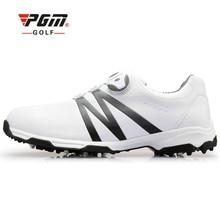 PGM Мужская обувь для гольфа Супер Кожаная Спортивная Обувь Водонепроницаемая дышащая противоскользящая обувь для мужчин европейские размеры 39-45