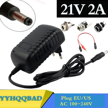 21V 2A 18650 Lithium Battery Charger 18V lithium battery Charger 5.5mm x 2.1mm DC Power Jack Socket Female Panel Mount Connector