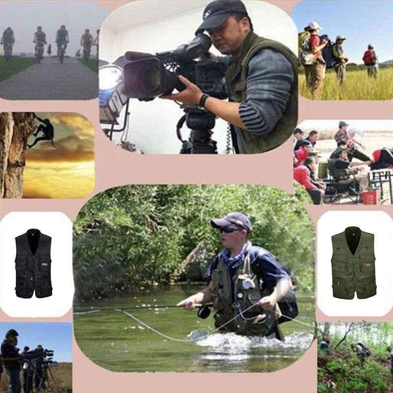 Männer Angeln Weste Outdoor Sport Angeln Leben Weste mit Multi-Tasche Zip Für Fotografie Jagd Reisen Outdoor Sport jacke