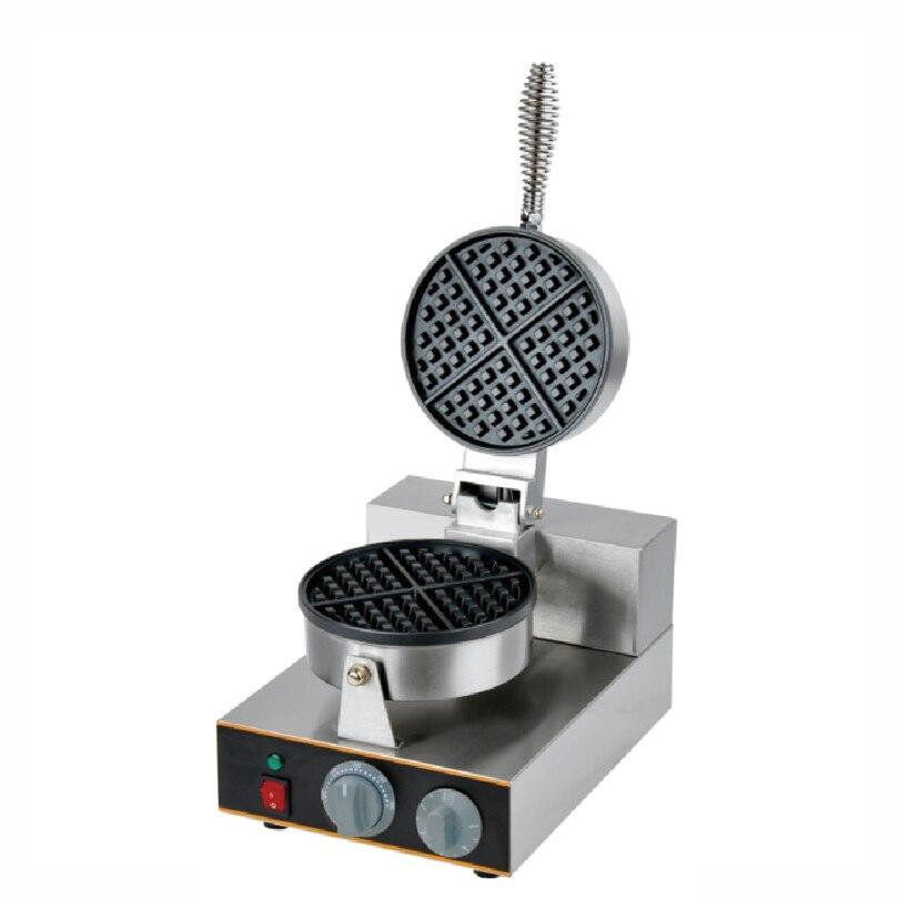 PKJY-1E máquina eléctrica para hacer gofres, máquina para el desayuno, sándwich, horno para tortas de huevo de 4 cuartos