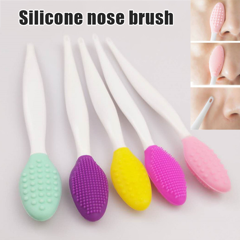 Practical Handy 2Pcs Silicone Face Cleaner Brush Exfoliating Blackhead Facial Cleaning Tool MSI-19