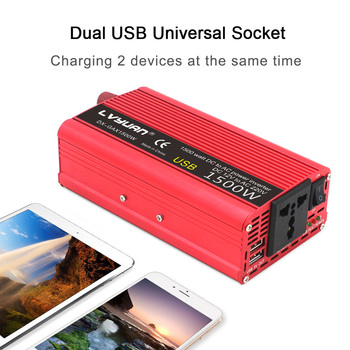 1500W/2000W Watt DC 12V to AC 220V Portable Car Power Inverter Charger Converter Adapter DC 12 to AC 220 Auto accessories