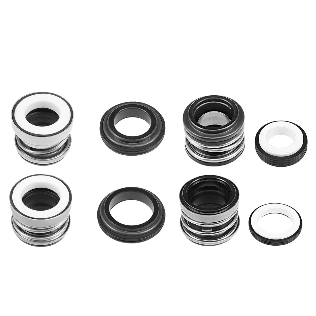 Uxcell 3Pcs Mechanical Shaft Seal Replacement For Pool Spa Pump Work In Water Oil And Other Weakly Corrosive Media Pumps