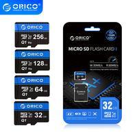 Tarjeta de memoria ORICO Micro SD 256GB 128GB 64GB 32GB 80 MB/S tarjeta TF Tarjeta de coche Micro sd tarjeta flash Class10 tarjeta de memoria 32GB TF