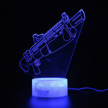 3d Nightlight Sleep Illusion Lamp Touch Battle Royale Remote Control Table Lamp Party Decoration Light Projection  Lamp