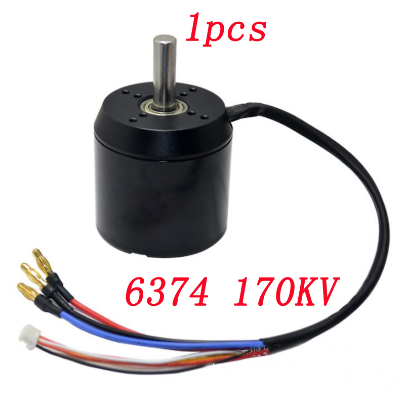 1pcs 6374 <font><b>170KV</b></font> Brushless Sensored <font><b>Motor</b></font> Large Torque High Speed Engine <font><b>Motors</b></font> 18-42V for RC Aircraft ROV Robot Model Electric image