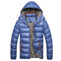 Mountainskin Solid Hooded Men's Winter Jackets Casual Parkas Men Coats Thick Thermal Shiny Coats Slim Fit Brand Clothing