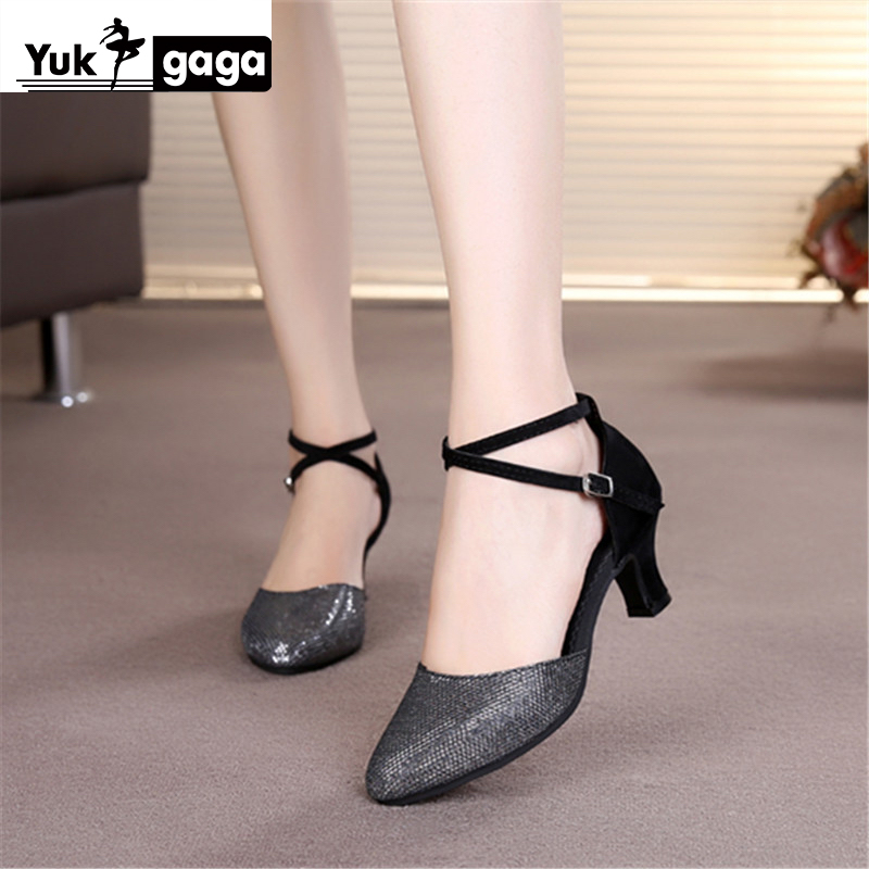 New Latin Dance Shoes For Women/Ladies/Girls/5 Colors/Tango Pole Ballroom Dancing Shoes Heeled 3.5CM And 5CM