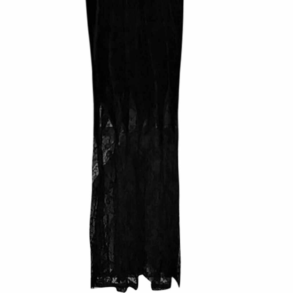 Feitong, женское платье, модное, сексуальное, обтягивающее, в готическом стиле, в стиле панк, с v-образным вырезом, с длинным рукавом, из кусков, кружевное, нижнее платье, robe hiver femme