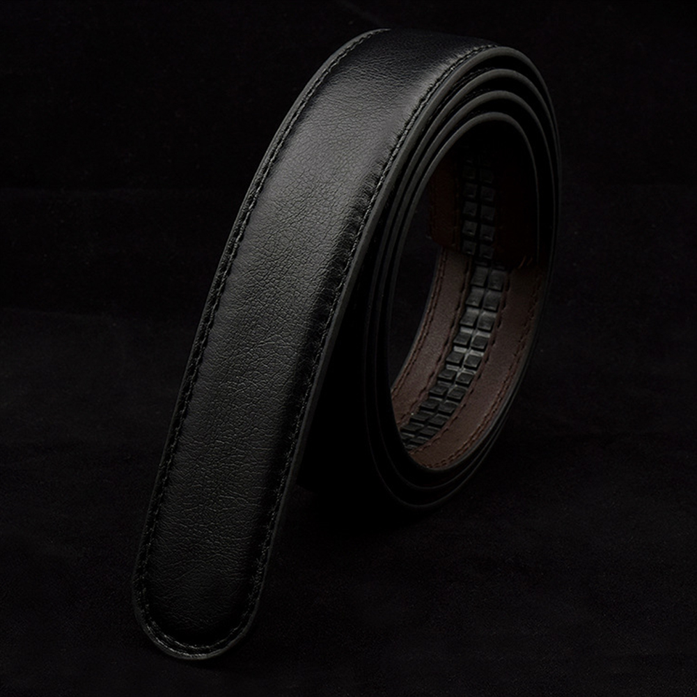 Male Double Layer PU Leather Belt Headless Automatic Buckle Men Business Casual Belts Brand Black Belts Accessories